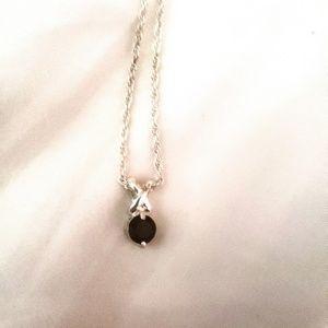 Genuine Ruby Pendant Necklace